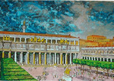 La piazza del foro di Traiano