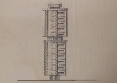 Prospetto di edificio a Torre