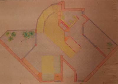 Planimetria 1° livello  alloggio tipo